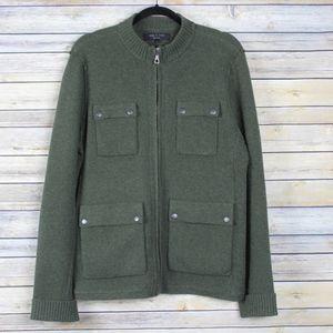 Rag & Bone Wool Full Zip Cardigan Sweater Large